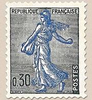 Type Marianne à La Nef. 30c. Noir Et Outremer (1233) Y1234A - Ungebraucht