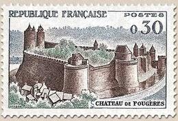 Série Touristique. Château De Fougères  30c. Brun, Vert Et Bleu Y1236 - Ungebraucht