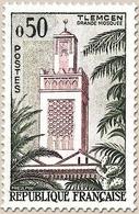 Série Touristique. Mosquée De Tlemcen, En Algérie  50c. Vert Foncé Et Lie-de-vin Y1238 - Ungebraucht