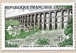 Série Touristique. Viaduc De Chaumont  85c. Vert, Sépia Et Bleu Y1240 - Ungebraucht