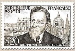 Centenaire De La Naissance De L'historien Pierre Girauld De Nolhac. 20c. Noir Et Gris Y1242 - Ungebraucht