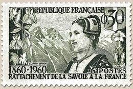 Centenaire Du Rattachement Du Duché De Savoie Et Du Comté De Nice. Savoyarde Et Glaciers De L'Homme  30c. Y1246 - Unused Stamps