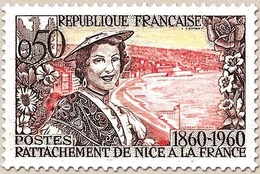 Centenaire Du Rattachement Du Duché De Savoie Et Du Comté De Nice. Niçoise Et Plage  50c. Y1247 - Ungebraucht