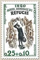 Année Mondiale Du Réfugié. 25c. + 10c. Vert, Brun-olive Et Bleu-noir Y1253 - Ungebraucht