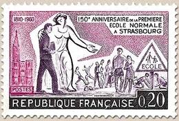 Sesquicentenaire De L'École Normale De Strasbourg. 20c. Rose-lilas, Violet Et Noir Y1254 - Ungebraucht