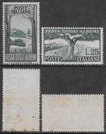 Italia Italy 1951 Alberi Sa N.680-681 Completa Nuova Integra MNH ** - 1946-60: Nieuw/plakker