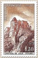 Série Touristique. Château De Joux (Doubs). 1f.30 Ocre, Violet-brun Et Brun-orange Y1441 - Unused Stamps
