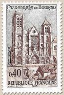 Cathédrale De Bourges. 40c. Brun-rouge Et Gris-bleu Y1453 - Nuevos