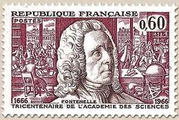 Tricentenaire De L'Académie Des Sciences, à Paris. Bernard Le Bovier De Fontenelle écrivain, 60c. Y1487 - Unused Stamps