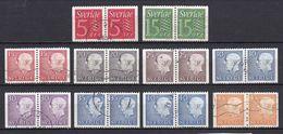 SE207 – SUEDE – SWEDEN – 1961-68 – FULL PAIRS SET – Y&T 459b-465Ab USED - Gebruikt