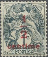 Type Blanc. Timbre De 1900 (n° 107) Surchargé. 1/2c. Sur 1c. Gris-noir (R) (IA) Neuf Luxe ** Y157 - Nuevos