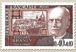 Personnages Célèbres. Edouard Branly, Physicien Et Chimiste (1844-1940) 40c. + 10c. Brun-lilas Y1626 - Unused Stamps