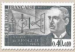 Personnages Célèbres. Maurice De Broglie, Physicien (1875-1960) 40c. + 10c. Gris Y1627 - Unused Stamps