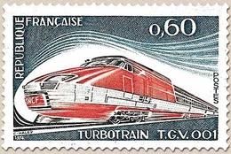 Série Grandes Réalisations. Turbotrain TGV 001.  60c. Bleu-gris, Rouge Et Sépia Y1802 - Unused Stamps