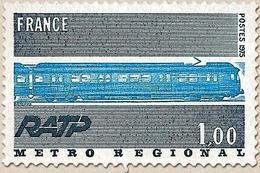 Série Grandes Réalisations. Réseau Express Régional.  1f. Gris-bleu Et Bleu Y1804 - Unused Stamps
