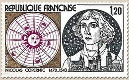 500e Anniversaire De La Naissance De Nicolas Copernic. 1f.20 Bleu-gris, Brun Et Lilas-rose Y1818 - Unused Stamps