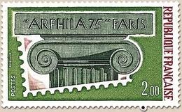 Arphila'75. Paris. Le Chapiteau 2f. Carmin, Vert-olive Et Vert-noir Y1831 - Unused Stamps