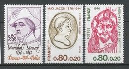 Série Personnages Célèbres. 3 Valeurs Y1882S - France