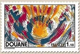 Douane. Héliogravure. 1f.10 Polychrome Et Or Y1912 - France
