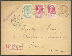 N°74(2)-79-83 Obl. ScLE HAVRE (SPECIAL)sur Lettre Recommandée Du 30-10-1914 Vers Paris. -TB - 15778 - 1905 Grosse Barbe