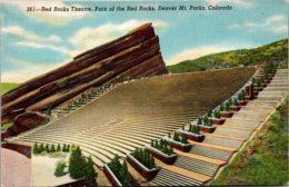 Colorado Park Of The Red Rocks Red Rocks Theatre Curteich - Denver