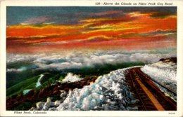 Colorado Pikes Peak Above The Clouds On Pikes Peak Cog Road - Etats-Unis
