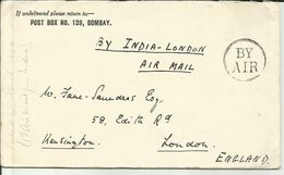 INDIA 1924 GEORGE V AIRMAIL COVER TO UK. - 1911-35 King George V
