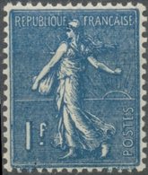 Type Semeuse Lignée. 1f. Bleu Neuf Luxe ** Y205 - Unused Stamps