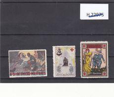 Croix Rouge 1914-18 . 3 Items - Commemorative Labels