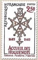 Tricentenaire De La Révocation De L'Édit De Nantes : Accueil Des Huguenots. La Croix Huguenote. 2f.50 Y2380 - Unused Stamps