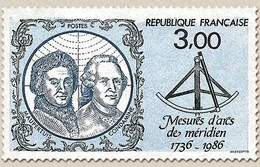 250e Anniversaire Des Mesures D'arcs De Méridien. Maupertuis, En Laponie. Emission Conjointe Franco-finnoise. 3f. Y2428 - Unused Stamps