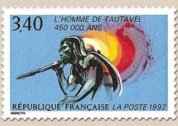 L'Homme De Tautavel. Homme Préhistorique Avec Javelot, Grotte  3f.40 Multicolore Y2759 - Nuevos