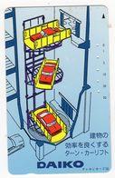 TELECARTE JAPON DAIKO ASCENSEUR POUR VOITURES - Advertising