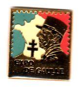 Pin's Expo De Gaulle - Personnes Célèbres