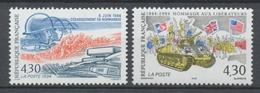 Série 50e Anniversaire Du Débarquement Des Troupes Alliées En Normandie. 2 Valeurs Y2888S - France