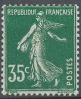 Type Semeuse Fond Plein, Inscriptions Grasses, Type II. 35c. Vert Neuf Luxe ** Y361 - Unused Stamps