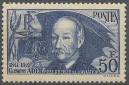 """En Souvenir De Clément Ader, Pionnier De L'aviation. Ader Et Son """"Avion No 3"""". 50f. Outremer Neuf Luxe ** Y398 - Unused Stamps"""