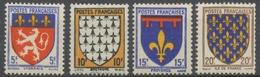 Série Armoiries De Provinces (I) 4 Valeurs Neuf Luxe ** Y575S - Nuevos