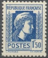 Série D'Alger. Coq Et Marianne (d'Alger) 1f.50 Bleu Neuf Luxe ** Y639 - Unused Stamps