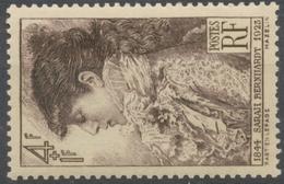 Au Profit De La Fondation Coquelin. Rosine Bernard Dite Sarah Bernhardt. 4f.+1f. Brun-lilas Neuf Luxe ** Y738 - Nuevos