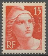 Centenaire Du Timbre. Type De 1945 (Marianne De Gandon) 15f. Rouge Neuf Luxe ** Y832 - Unused Stamps