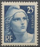 Centenaire Du Timbre. Type De 1945 (Marianne De Gandon) 25f. Bleu Neuf Luxe ** Y833 - Unused Stamps