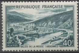 Monuments Et Sites. Vallée De La Meuse. 40f. Vert-noir Neuf Luxe ** Y842A - Nuevos