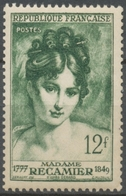 Madame Récamier (1777-1849) (détail), D'après Gérard. 12f. Vert. Neuf Luxe ** Y875 - Ungebraucht