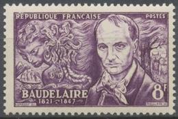 Poètes Symbolistes. Charles Baudelaire (1821-1867) Et évocation Des Fleurs Du Mal. 8f. Violet. Neuf Luxe ** Y908 - Unused Stamps
