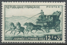 Journée Du Timbre. Malle-poste 12f. + 32f. Vert. Neuf Luxe ** Y919 - Unused Stamps