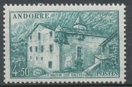 Andorre Français N°108A, 4f.50 Vert-bleu NEUF** ZA108A - French Andorra