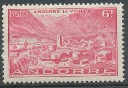 Andorre Français N°111, 6f. Rose Carminé NEUF** ZA111 - Ungebraucht