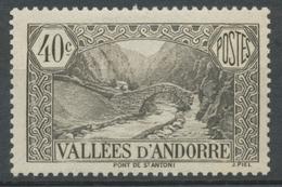 Andorre Français N°62, 40c. Brun-noir NEUF** ZA62 - Ungebraucht