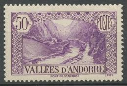 Andorre Français N°64, 50c. Violet NEUF** ZA64 - Ungebraucht